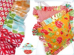 Plump Pillows with Charm Pack Ruffles in Bonnie & Camille's Marmalade | Sew4Home