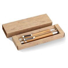 Sada perá a ceruzky z bambusu