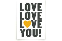 Love You! by Max and Bunny at minted.com