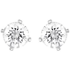 Swarovski Attract Pearl Pierced Earrings (105 AUD) ❤ liked on Polyvore
