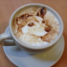 Barista/artist Michael Breach is the Leonardo Da Vinci of the coffee world. His speciality is portraits.
