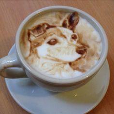 Barista/artist Michael Breach is the Leonardo Da Vinci of the coffee world. His speciality is portraits.