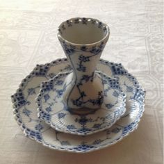 """Looks like Royal Copenhagen...German porcelain was copied from this """"look"""" or pattern, I think...in early 1800's"""