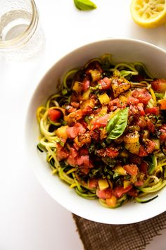 Heirloom Tomato Zucchini Pasta (Tried: good but balsamic was a little overwhelming)