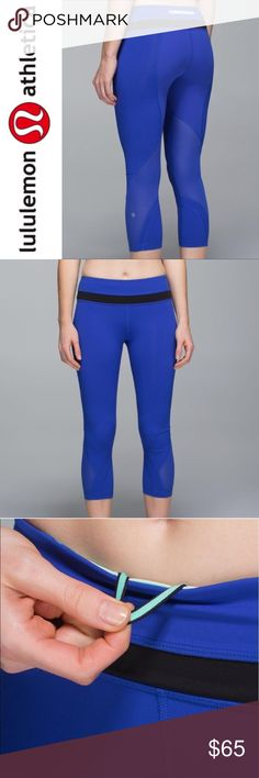 "Lululemon Harbor Blue Run Inspire Crops ✔️Inseam: 22"" approx ✔️Excellent Used Condition lululemon athletica Pants Leggings"