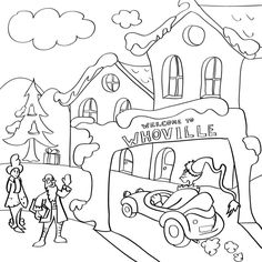 Coloring Whoville Coloring Pages Ecolors and Dr Seuss Printable Coloring Pages Whoville Coloring Pages Ecolors Grinch Christmas Decorations, Whoville Christmas, Grinch Stole Christmas, Christmas Printables, Christmas Colors, Kids Christmas, Christmas Crafts, Christmas Games, Christmas Activities