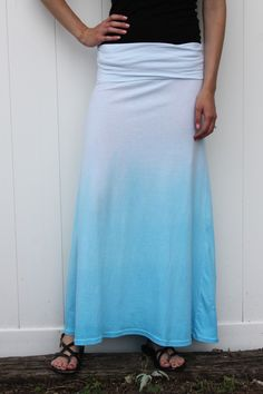 Dip Dyed Ombre Maxi | Rit Fabric Dye Clothing Dyeing (to make those sheets...)