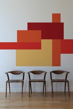 Color Blocking Wall Decals by Mina Javid for Blik Photo