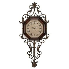 cole u0026 grey wood metal wall clock