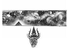 Om Tattoos, Band Tattoos For Men, Full Arm Tattoos, Forarm Tattoos, Hand Tattoos For Guys, Arrow Tattoos, Body Art Tattoos, Band Tattoo Designs, Shiva Tattoo Design