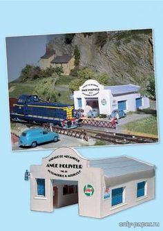 """rural Garage (related to the model train 06) Different buildings made of paper, paper model Free Download - Architecture - Product model - """"Only the paper"""""""
