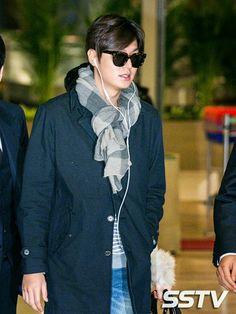 Lee Min Ho at Ninoy Aquino International Airport and Incheon International Airport - 25.02.2015