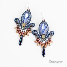 Denim Earrings, Soutache Earrings, Small Earrings, Gifts For Women, Gifts For Her, Trendy Colors, Organza Bags, Belly Button Rings, Boho Chic