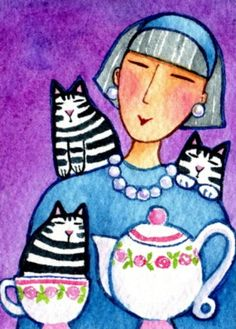 Meet Crazy Cat Lady Cat Artist, Susan Faye | Catster