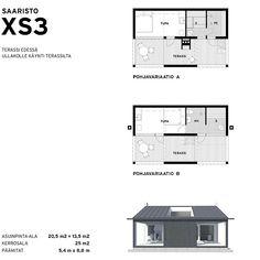Kompakti minimökki, joka toimii mökkinä sellaisenaan tai päärakennusta tukevana saunatupana. Katso lisää.