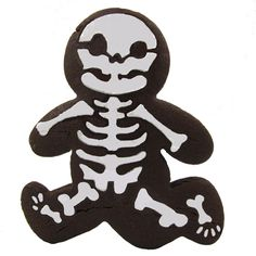 Exclusive to Fancy Flours! Cheeky running gingerbread skeleton cookie stencil makes the perfect treats for your ghost and goblin party.  http://www.fancyflours.com/product/Running-gingerbread-skeleton-stencil/halloween-party-theme