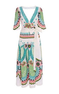 Lime mix arabelle wrap dress by TEMPERLEY LONDON ss16