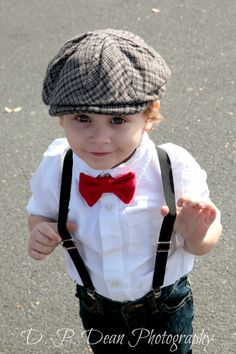 Solid Red Bowtie Bow Tie and Suspender, red or black pants. Description from pinterest.com. I searched for this on bing.com/images