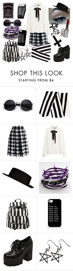 """""""Gothic Learning"""" by liljeaniebug ❤ liked on Polyvore featuring H&M, Chicwish, River Island, Barbed, Zippo and Charlotte Russe"""