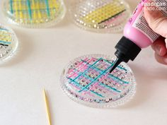 painting glass coasters