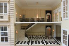 "Anglia Dolls Houses by Tim Hartnall - Ready to ""move in"" (from his 1920's hotel - fabulous entrance!)"