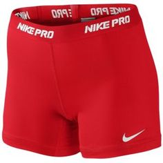 "Nike Pro 5"" Compression Short - Women's - Training - Clothing - Sport Red/White"
