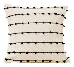 Black Gold Room Boho Chic Cream and Black Textured Organic Wool Pillow - Black And Cream Living Room, Cream Living Rooms, Boho Living Room, Black Pillows, Cute Pillows, Wool Pillows, Cream Pillows, Boho Throw Pillows, Boho Chic