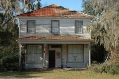 stillwell-ga-effingham-county-post-office-general-store-abandoned-ghost-town-southern-spanish-moss-tin-roof-photo-copyright-brian-brown-vanishing-south-georgia-usa-2009