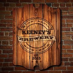 Cool Beer Brewery Sign Customized With Your Guy S Name This Bar Would Make An