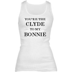 Matching Bonnie And Clyde Junior Fit Basic Bella 2x1 Rib Tank Top #matchingcouples #couples