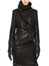 ANN DEMEULEMEESTER  STRETCH NAPPA LEATHER JACKET