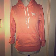 Orange PINK sweatshirt orange/coral PINK sweatshirt PINK Victoria's Secret Tops Sweatshirts & Hoodies