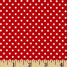 Moda Dottie Small Dots Red from @fabricdotcom  From Moda, this cotton print is perfect for quilting, apparel and home decor accents.  Colors include white and red.