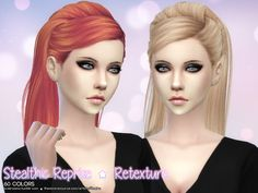 Stealthic Reprise Hair Retexture at Aveira Sims 4 via Sims 4 Updates The Sims, Sims 5, Sims 4 Hair Male, Sims Hair, Mod Hair, Sims 4 Update, Sims Mods, Sims 4 Custom Content, 4 Kids