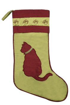 Give your family's feline pride a place on the mantel with this stocking. #petchristmasstocking