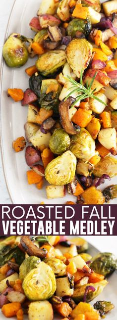 Roasted Fall Vegetables, Roasted Vegetable Medley, Thanksgiving Vegetables, Thanksgiving Side Dishes, Thanksgiving Ideas, Veggies, Veggie Medley Recipes, Winter Salad Recipes, Recipes