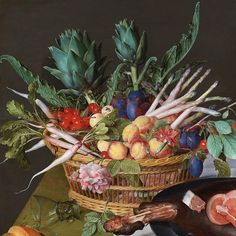 ⭐️Jacob van Hulsdonck, the artichoke was an appealing motif because of the…' Vegetable Painting, The Hague, Slow Food, Still Life, Artichoke, Shapes, Fruit, Van, Illustration