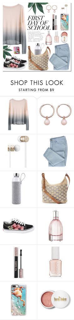 """""""First Day"""" by linmari ❤ liked on Polyvore featuring Astley Clarke, Beats by Dr. Dre, SONOMA Goods for Life, Vans, Chloé, Yves Saint Laurent, Essie, Casetify and Terre Mère"""