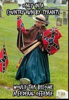 They are Honored American Veterans and the Confederate Flag is considered a United States Flag. It represents States Rights not slavery.