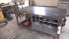 Welding Table, Workbench and Tool Storage Welding Table, Workbench and Tool Storage Welding Table, Workbench and Tool Storage<br> Storage Trolley, Bench With Storage, Table Storage, Diy Storage, Storage Ideas, Small Storage, Storage Rack, Tool Storage Cabinets, Garage Tool Storage