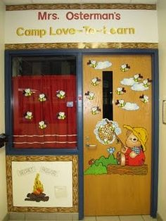 I like the Camp-themed Classroom name?      Attention Clay camp teachers...  This site has a lot of cute camp classroom ideas.