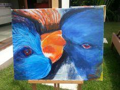 A pair of blue bird