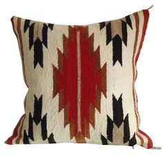 Navajo Weaving Pillow /great Colors & Design   From a unique collection of antique and modern pillows and throws at http://www.1stdibs.com/furniture/more-furniture-collectibles/pillows-throws/