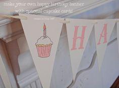 gaddieandtood.typepad.com DIY happy birthday banner - in blue and pink