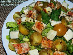 SALATA CAPRESE CU PIEPT DE PUI - Bucate parfumate Cobb Salad, Food, Salads, Meals, Yemek, Eten