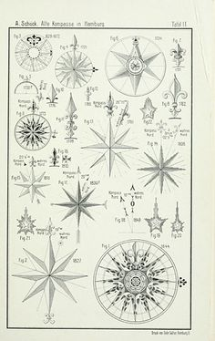 Draw Rose A. Alte Kompasse in Hamburg compass roses. si there anything better? Tatoo Compass, Compass Art, Nautical Compass Tattoo, Compass Drawing, Design Rosa, Rosen Tattoos, Mariners Compass, Compass Design, Neue Tattoos