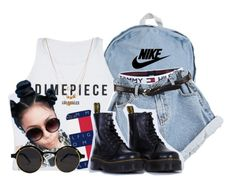 """twigs"" by skaiisaylor ❤ liked on Polyvore featuring American Apparel, NIKE, Tommy Hilfiger, Dr. Martens, Forever 21, women's clothing, women, female, woman and misses"