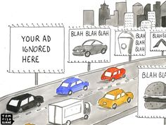 Funny Cartoon by tomfishburne.com about Outdoor Advertising.
