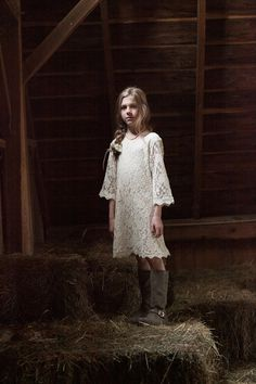 Sweet flower girl dress with riding boots!