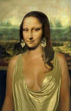 you know it's funny ; Recherche Internet, La Madone, Mona Lisa Parody, Mona Lisa Smile, Female Cartoon, Italian Artist, Tour Eiffel, Skull Art, Les Oeuvres